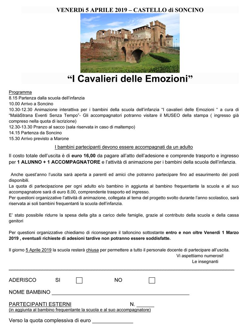 avviso GITA Castello Soncino